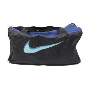Vintage 90s Nike Big Swoosh Logo Duffle Bag Black